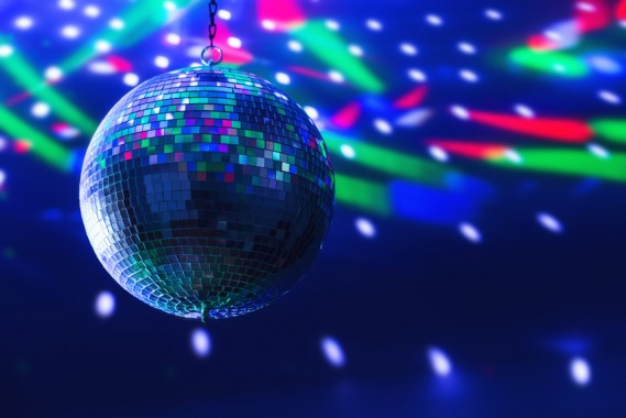disco ball background close up